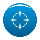 Focal target icon blue. Circle isolated on white background stock illustration