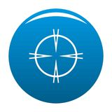 Focal target icon blue vector. Focal target icon vector blue circle isolated on white background stock illustration