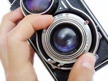 Focalizzazione della macchina fotografica dell'annata Immagini Stock Libere da Diritti