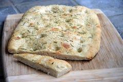 面包foccacia 库存照片