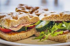 Foccacia-Sandwich Lizenzfreie Stockbilder