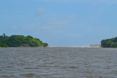 Foce di Bentota Oceano Indiano La Sri Lanka Fotografia Stock Libera da Diritti