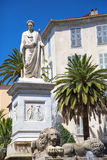 Foch square and bonaparte statue in in Ajaccio Royalty Free Stock Photos