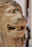 Focinho de um leão da pedra calcária Imagens de Stock