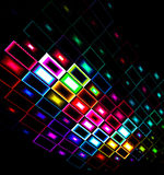 Foco abstracto multicolor del diseño abajo