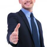 Foco da agitação da mão do homem de negócio Imagens de Stock Royalty Free