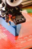 foco da cabeça da impressora 3D Imagem de Stock