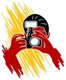 Foco de la cámara ilustración del vector