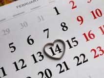 Foco del calendario en fondo del número 14 fotografía de archivo libre de regalías