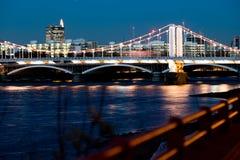 Foco del puente de Chelsea Imágenes de archivo libres de regalías