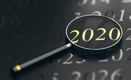 Foco el año 2020, dos mil veinte Imagen de archivo