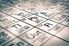 Foco en el elemento químico de la ventaja stock de ilustración