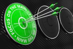 Foco en el lema principal - blanco verde. imagen de archivo libre de regalías