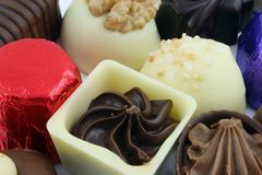 Foco en el solo chocolate foto de archivo libre de regalías
