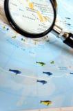 Foco en South Pole Imágenes de archivo libres de regalías