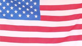 Foco en una bandera americana ilustración del vector