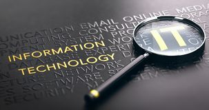 Foco gestão Co do serviço na tecnologia da informação da TI ou de ITSM ilustração stock