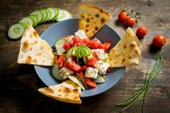Foco grego da salada closeup Foto de Stock Royalty Free