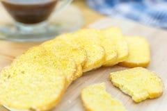 Foco macio do açúcar friável da manteiga do pão Fotos de Stock