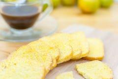 Foco macio do açúcar friável da manteiga do pão Imagens de Stock