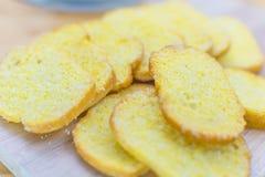 Foco macio do açúcar friável da manteiga do pão Imagem de Stock