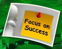 Foco nas mostras da foto do sucesso que conseguem objetivos Fotografia de Stock Royalty Free