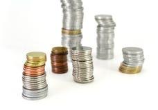 Foco no dinheiro - torres do dinheiro Imagem de Stock Royalty Free