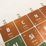 Foco no elemento químico do carbono imagem de stock royalty free
