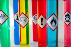 Foco químico del peligro para la salud de los pictogramas del peligro Imagenes de archivo
