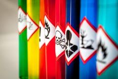 Foco químico del tóxico de los pictogramas del peligro foto de archivo libre de regalías