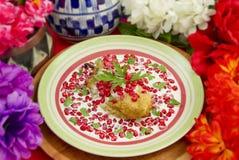 Foco raso do prato mexicano do Chile Nogada foto de stock