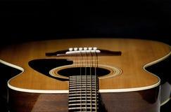 Foco selectivo de la guitarra Fotografía de archivo libre de regalías