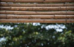 Foco selecto del panel de bambú Fotos de archivo