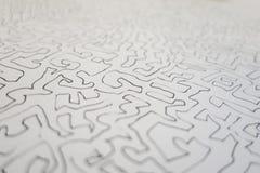 Foco seletivo de um a lápis desenho da grafite de um labirinto como o pa da arte fotos de stock royalty free