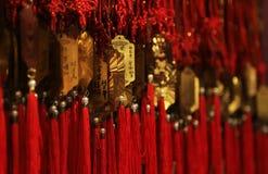 Foco seletivo em ornamento chineses bonitos imagem de stock