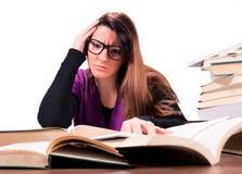 Problemas do estudante imagens de stock