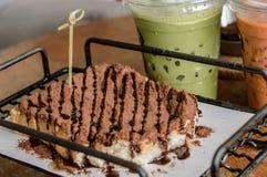 Foco seleto do brinde do mel do chocolate Fotografia de Stock