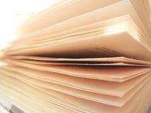 Foco suave abierto del libro Fotografía de archivo