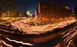 Foco suave Wat Maheyong un lugar público en Tailandia El público w Foto de archivo libre de regalías