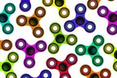 Foco Toy Colorful Background Illustration del hilandero de la persona agitada Fotos de archivo