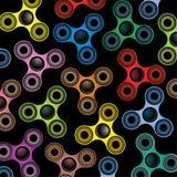 Foco Toy Colorful Background Illustration del hilandero de la persona agitada Foto de archivo libre de regalías
