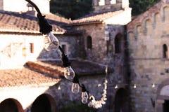 Focos en un castillo Foto de archivo libre de regalías