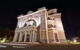 Focsani teater royaltyfria foton