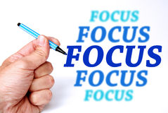Focus. Keeping your focus, stay concentrated and get results in business and life Stock Photos
