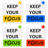 Focus. Keeping your focus and getting results in career and life Stock Images