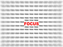 Focus Royalty Free Stock Photos