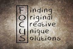 Focus acronym Stock Photo