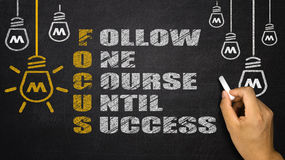 Focus Acronym: follow one course until success Stock Images