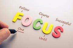 Focus Acronym Royalty Free Stock Photo