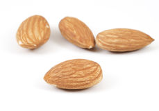 Focus on Almond on White Royalty Free Stock Images